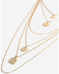 TOPSHOP - mega Coin Layer Necklace - Lyst