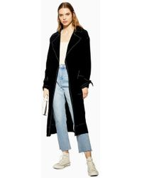 TOPSHOP - Belted Duster Coat - Lyst