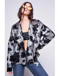 Jaded London | Cow Print Sequin Oversized Jacket By | Lyst
