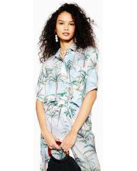 c18aa084f7ea1c TOPSHOP - Petite Hawaiian Print Bowler Shirt - Lyst