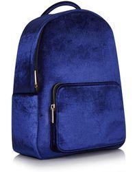 Skinnydip London - Navy Velvet Charlie Backpack By Skinnydip - Lyst