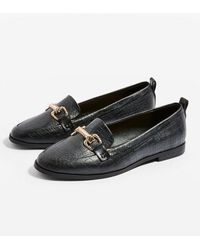 TOPSHOP - Lacey Trim Loafers - Lyst