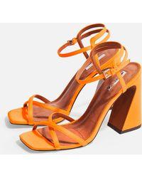 TOPSHOP - Redemption Ankle Strap Sandal - Lyst
