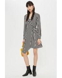 TOPSHOP - Tall Stripe Mini Shirt Dress - Lyst