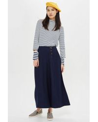 TOPSHOP - Tall Horn Button Palazzo Trousers - Lyst