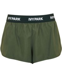 TOPSHOP - Elastic Logo Woven Runner Shorts By Ivy Park - Lyst