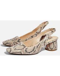 b24ef62ebf84 TOPSHOP Gainor Leopard Print Slingback Shoes - Lyst