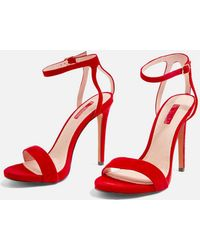 TOPSHOP - Wide Fit Rapture Skinny Heel Sandals - Lyst