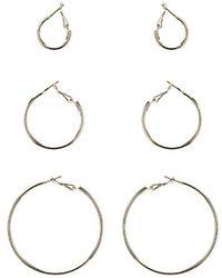 TOPSHOP - Hoop Multipack Earrings - Lyst