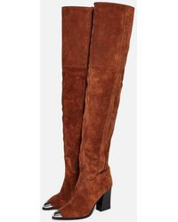 TOPSHOP - Bass Chain Over The Knee Boots - Lyst