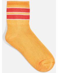 TOPSHOP - Red Stripe Sports Socks - Lyst