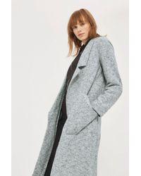 TOPSHOP - Brushed Back Jersey Coat - Lyst