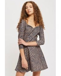 Oh My Love - Long Sleeve Sweetheart Skater Dress By - Lyst