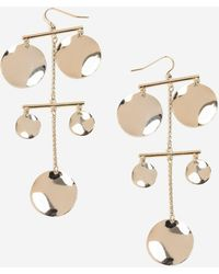 TOPSHOP - Petal Drop Earrings - Lyst