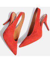 TOPSHOP - Gail Slingback Shoes - Lyst