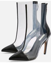 TOPSHOP - Hockey Transparent Heel Boots - Lyst