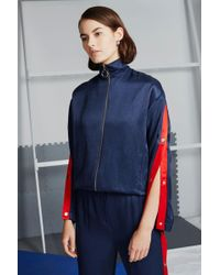 TOPSHOP - Tailored Track Top - Lyst
