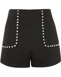 Wyldr - Outlaw Black Denim Shorts By - Lyst