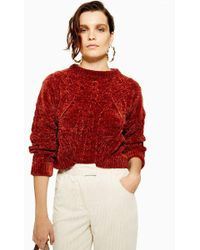 TOPSHOP - Chenille Cable Jumper - Lyst