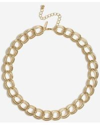 TOPSHOP - double Link Chunky Necklace - Lyst