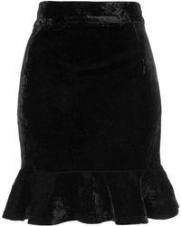 Wyldr - Fire Rides Black Velvet Skirt By - Lyst