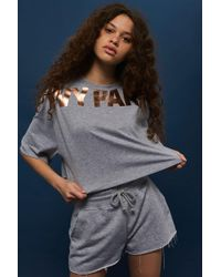 Ivy Park | Metallic Cropped Crew T-shirt By | Lyst