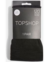TOPSHOP - Black 120 Denier Opaque Tights - Lyst