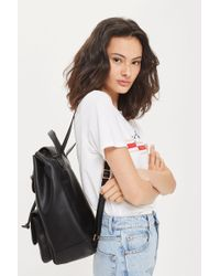 TOPSHOP - Bailey Ring Detail Backpack - Lyst