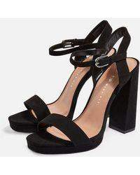 TOPSHOP - Wide Fit Sabine Platform Sandals - Lyst