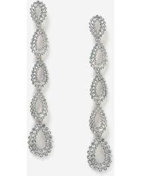 TOPSHOP - Rhinestone Oval Drop Earrings - Lyst