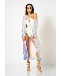 Club L - Shell Sequin Kimono By London - Lyst