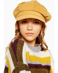 TOPSHOP - Slouchy Baker Boy Hat - - Lyst