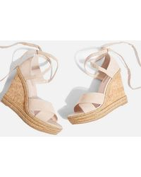 TOPSHOP - Winona Cross Strap Wedges - Lyst