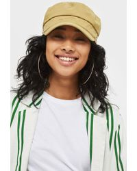 TOPSHOP - Stud Baker Boy Hat - Lyst