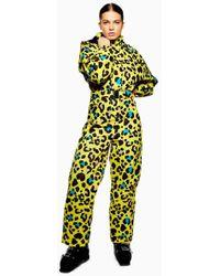 TOPSHOP - Sno Gwen Waterproof Leopard Jumpsuit - Lyst