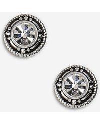 TOPSHOP - Sterling Silver Twisted Link Earrings - Lyst