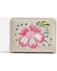 TOPSHOP - Scilla Embroidered Gem Oyster Holder - Lyst