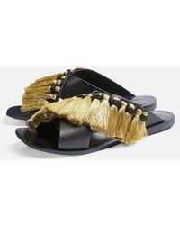 TOPSHOP - Fifi Fringe Sandals - Lyst