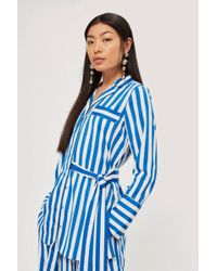 Y.A.S - Striped Wrap Top By - Lyst