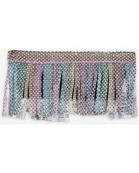Jaded London - Rainbow Diamante Fringe Top By - Lyst