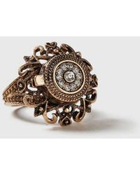 TOPSHOP - filigree Locket Ring - Lyst