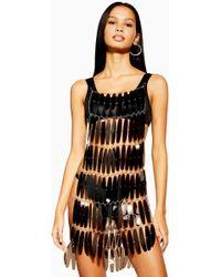 TOPSHOP Festival Black Smoke Tpu Dress