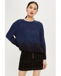 f2588cc7272 TOPSHOP Boucle Slouchy Jumper in Gray - Lyst
