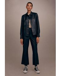 TOPSHOP - leather Crop Flares By Boutique - Lyst