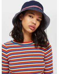 TOPSHOP - Sporty Tape Bucket Hat - Lyst
