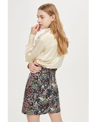 TOPSHOP - Woodland Jacquard Mini Skirt - Lyst
