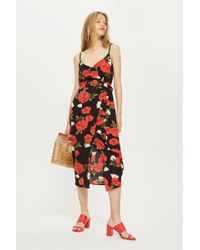 Oh My Love - Printed Wrap Midi Skirt By - Lyst
