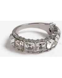 TOPSHOP - Stone Band Ring - Lyst