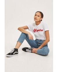 TOPSHOP - Id Blue Orson Slim Leg Jeans - Lyst