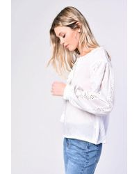 Glamorous - tie Front Boho Blouse By - Lyst